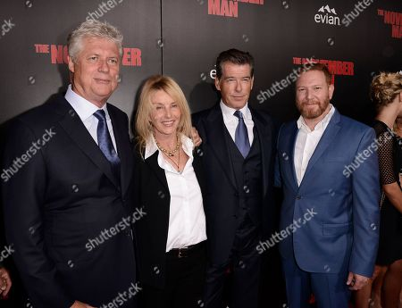 "From left to right, director Roger Donaldson, producer Beau St. Claire, actor Pierce Brosnan, and Relativity Media CEO Ryan Kavanaugh attend the premiere of the feature film ""The November Man"" at TCL Chinese Theatre on in Los Angeles"