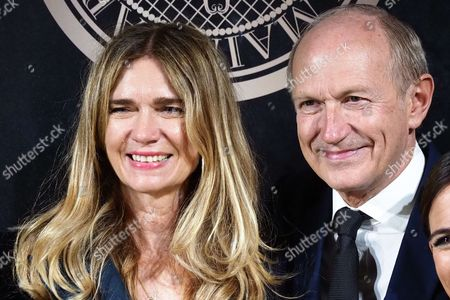 Jean-Paul Agon CEO of L'Oreal, Sophie Agon attend the L'Oreal Paris X Balmain event as part of the Paris Fashion Week Womenswear Spring/Summer 2018 on September 28, 2017 in Paris, France. //VULAURENT_LVU20170928_01118/Credit:LaurentVu/SIPA/1709290722