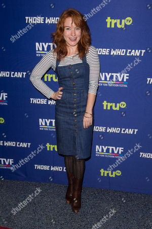 """Maria Thayer attends the 11th Annual New York Television Festival screening and panel of truTV's original comedy series """"Those Who Can't"""", at the SVA Theatre, in New York"""