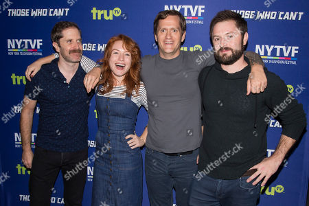 "Andrew Orvedahl, Maria Thayer, Ben Roy and Adam Cayton-Holland attend the 11th Annual New York Television Festival screening and panel of truTV's original comedy series ""Those Who Can't,"" at the SVA Theatre, in New York"