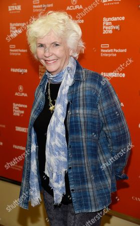 "Fionnula Flanagan, a cast member in ""Trash Fire,"" poses at the premiere of the film at the 2016 Sundance Film Festival, in Park City, Utah"