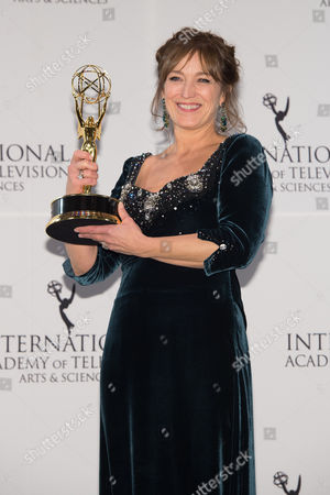 Editorial picture of 43rd International Emmy Awards - Press Room, New York, USA