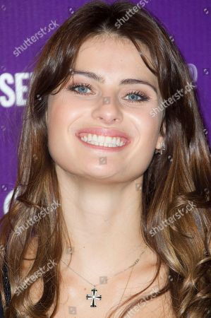 Stock Photo of Brazilian model Isabelli Fontana launches the new range of Beauty products at Selfridges department store on in London, UK