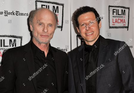 "Ed Harris, left, and Arie Posin arrive at the LA Premiere Screening of ""The Face of Love"" on in Los Angeles"