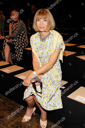 Anna Wintour seen at MBFW Spring/Summer 2015 - Donna Karen Fashion Show New York at 547 W. 26th Street on Monday, Sept, 8 2014, inNew York