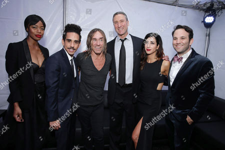 Jill Marie Jones, Ray Santiago, Iggy Pop, Starz Managing Director Carmi Zlotnik, Dana DeLorenzo and Executive Producer Craig DiGregorio seen at Starz Premiere of 'Ash vs Evil Dead' at TCL Chinese Theatre, in Los Angeles, CA