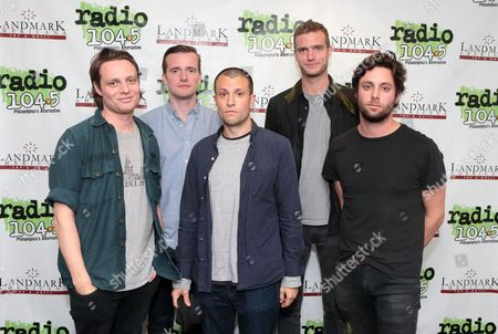 Stock Picture of Hugo White, from left, Sam Doyle, Orlando Weeks, Rupert Jarvis and Felix White of the band The Maccabees visit the Radio 104.5 Performance Theater, in Philadelphia