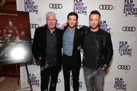 Ron Perlman, Adam Brody and Exec. Producer/Creator/Director Ben Ketai