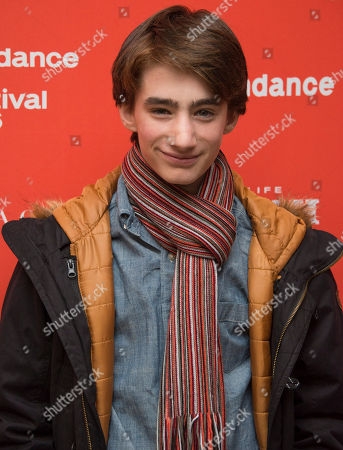 """Actor Theo Taplitz poses at the premiere of """"Little Men"""" during the 2016 Sundance Film Festival, in Park City, Utah"""
