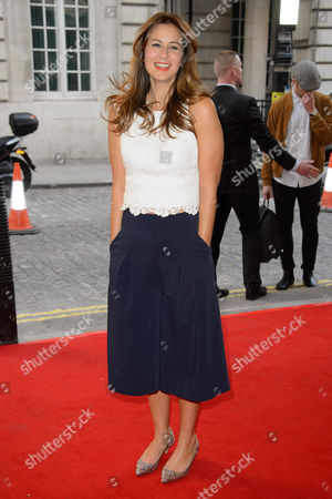 Stock Photo of Tess Morris poses for photographers upon arrival for the UK Gala screening of Man Up at a central London cinema