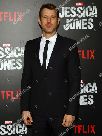 """Wil Traval attends the Netflix original series premiere of """"Marvel's Jessica Jones"""" at the Regal E-Walk, in New York"""