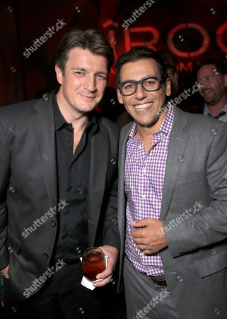 "Nathan Fillion and Director Stu Zicherman attend the Los Angeles Premiere of ""A.C.O.D."" Powered by CIROC Vodka, at The W Hotel on in Los Angeles"