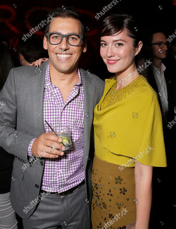 "Director Stu Zicherman and Mary Elizabeth Winstead attend the Los Angeles Premiere of ""A.C.O.D."" Powered by CIROC Vodka, at The W Hotel on in Los Angeles"