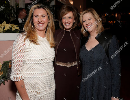 From left, president and CEO of A&E Networks Nancy Dubuc, co-chairman of Disney Media Networks and president of Disney/ABC Television Group Anne Sweeney, and chairman of A&E Networks Abbe Raven attend The Hollywood Reporter's celebration of power 100 women in entertainment breakfast on in Beverly Hills, Calif