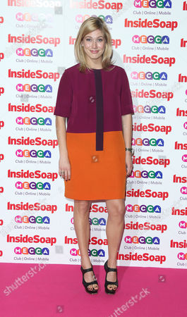 Lauren Drummond arrives for the Inside Soap awards, held at the Ministry of Sound in south London