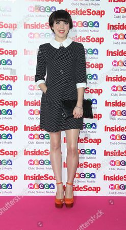 British actress Rachel Bright arrives for the Inside Soap awards, held at the Ministry of Sound in south London