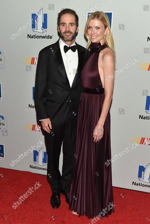 NASCAR driver Jimmie Johnson and wife Chandra Johnson attend the NASCAR Foundation's inaugural honors gala at the Marriott Marquis, in New York