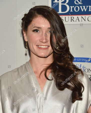 Driver Julia Landauer attends the NASCAR Foundation's inaugural honors gala at the Marriott Marquis, in New York
