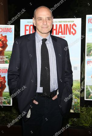 """Writer Eric Schlosser attends the premiere of """"Food Chains"""" on Tuesday, Nov.18, 2014, at the The Food Foundation in New York"""