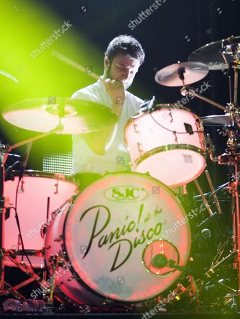 Spencer Smith of Panic at the Disco performed on the band's stop at Chastain Park Amphitheatre, in Atlanta, Ga