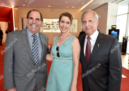 Ed Fassl, from left, Heather Cochran, and Kevin Hamburger attend the Television Academy's 70th Anniversary Gala and Opening Celebration for its new Saban Media Center, in the NoHo Arts District in Los Angeles