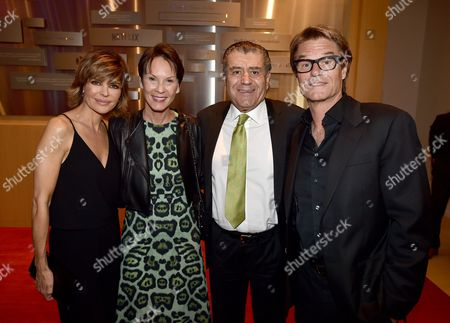 Lisa Rinna, from left, Cheryl Saban, Haim Saban and Harry Hamlin attend the Television Academy's 70th Anniversary Gala and Opening Celebration for its new Saban Media Center, in the NoHo Arts District in Los Angeles