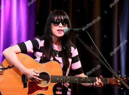 Ellie Innocenti of the band Deluka visits the Radio 104.5 Performance Theater, in Philadelphia