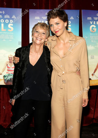 """Stock Photo of Director Naomi Foner, left, and daughter, actress Maggie Gyllenhaal, right, attend a screening of """"Very Good Girls"""", in New York"""