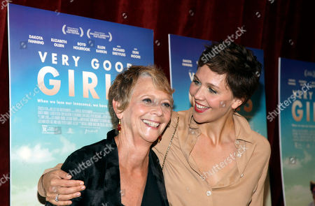"""Director Naomi Foner, left, and daughter, actress Maggie Gyllenhaal, right, attend a screening of """"Very Good Girls"""", in New York"""