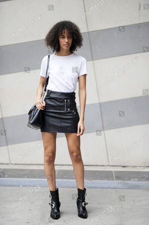 Editorial picture of Street Style, Spring Summer 2018, Paris Fashion Week, France - 28 Sep 2017