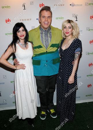 Perez Hilton with The Veronicas - Lisa Origliasso and Jess Origliasso