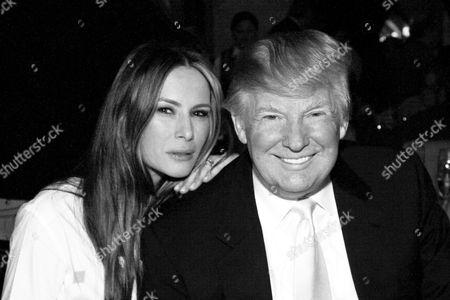 Palm Beach Fl - 2010: Donald Trump and Melania Knauss at the Mar-a-lago Club in 2010 in Palm Beach Florida People: Melania & Donald Trump
