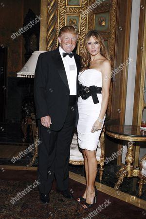 Palm Beach Fl - 2009: Donald Trump and Melania Knauss at the Mar-a-lago Club in 2009 in Palm Beach Florida People: Donald Trump Melania Knauss