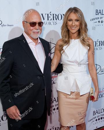 Las Vegas Nv - June 28: Celine Dion and René Angélil Pictured As VÉronic Voices at Bally's Las Vegas Opens On June 28 2013 in Las Vegas Nevada