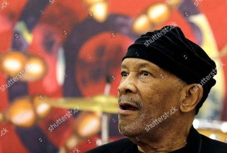 "Stock Picture of Jazz musician Roy Ayers, looks on during his workshop with young music artist at Funda Centre in Soweto, South Africa, . Ayers, who is in South Africa for a jazz festival, radiated enthusiasm on Friday as he urged a couple of dozen people at an arts center to ""vibe on"" role models even if they don't always meet expectations"