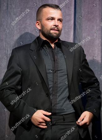 """Stock Photo of Actor Adnan Haskovic arrives at the premiere for the film """"Twice Born"""" at Roy Thomson Hall during the Toronto International Film Festival, in Toronto"""