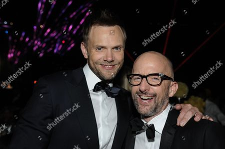 Joel McHale, left, and Jim Rash attend the Governors Ball at the 2014 Creative Arts Emmys at Nokia Theatre L.A. LIVE, in Los Angeles