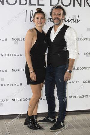 Actress Cristina Alarcon and actor Jose Luis Garcia-Perez