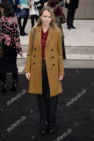 Stock Picture of Imogen Waterhouse poses for photographers upon arrival at the Burberry Prorsum fashion show in London