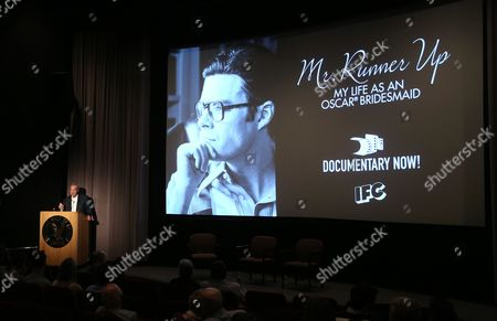 Ken Scherer, CEO of the MPTF Foundation, speaks at IFC and MPTF's Documentary Now! screening at the Directors Guild of America Theatre, in Los Angeles