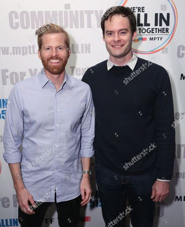 Alex Buono, director and executive producer, Documentary Now!, left, and Bill Hader attend IFC and MPTF's Documentary Now! screening at the Directors Guild of America Theatre, in Los Angeles