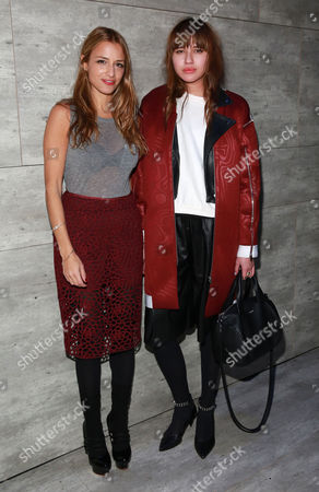 Designer Charlotte Ronson and Natalie Suarez seen at the Charlotte Ronson fashion show during Mercedes-Benz Fashion Week Fall 2015 at The Pavilion at Lincoln Center on in New York