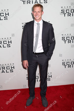 "Chris Sheffield attends the premiere of ""Maze Runner: The Scorch Trials"" at the Regal Cinemas E-Walk, in New York"