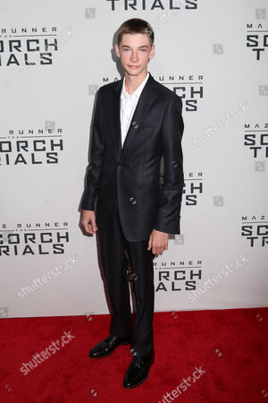 """Jacob Lofland attends the premiere of """"Maze Runner: The Scorch Trials"""" at the Regal Cinemas E-Walk, in New York"""
