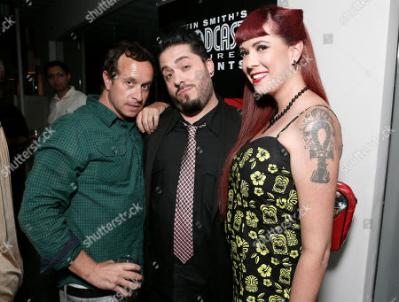 COMMERCIAL IMAGE - Pauly Shore, Rachel Federoff and Destin Pfaff attend the Phase 4 Films Annual Cocktail Party on in Los Angeles