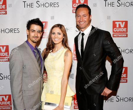 Stock Picture of Toby Moniz, Destiny Moniz, and Executive Producer Quinton Van Der Burgh attend The Shores Premiere Party at Dim Mak studios, in Los Angeles