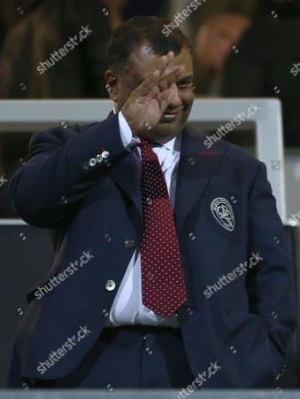 QPR owner Tony Fernandes waves