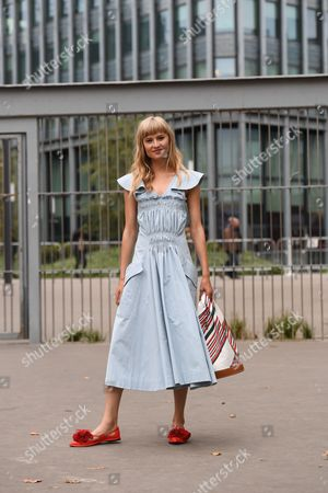 Editorial photo of Street Style, Spring Summer 2018, Paris Fashion Week, France - 28 Sep 2017
