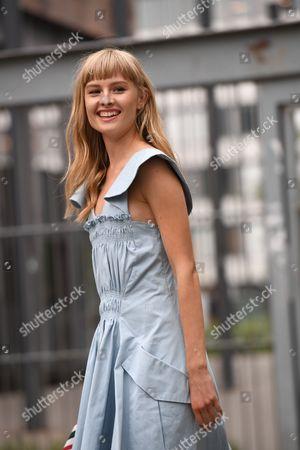 Editorial image of Street Style, Spring Summer 2018, Paris Fashion Week, France - 28 Sep 2017