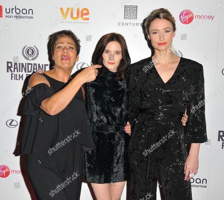 Stock Image of Denise Welch, Rebecca Calder and Deirdre Mullins